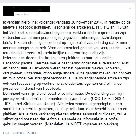 facebook privacy recht
