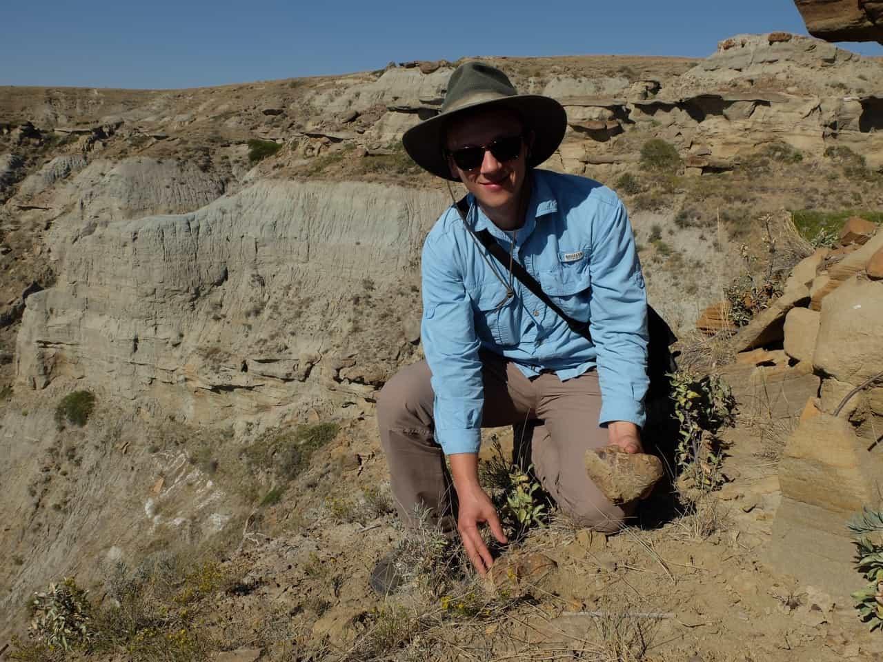 Foto van de maand: paleontoloog gespot