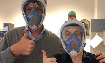 Creatief: Brubotics maakt mondmaskers van snorkelmaskers