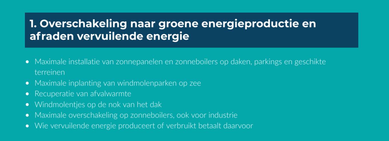 1 pijler - duurzaam klimaatbeleid