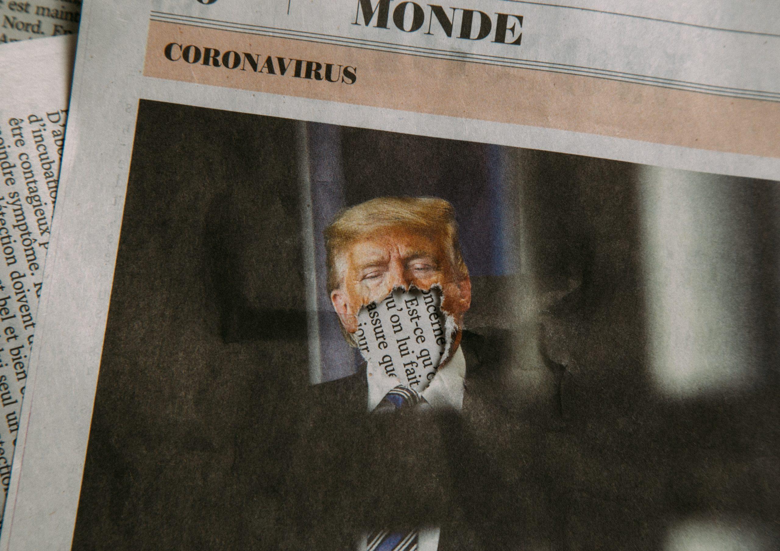 Psychologie in tijden van pandemie_Trump_mondmasker_Photo by Charles Deluvio on Unsplash