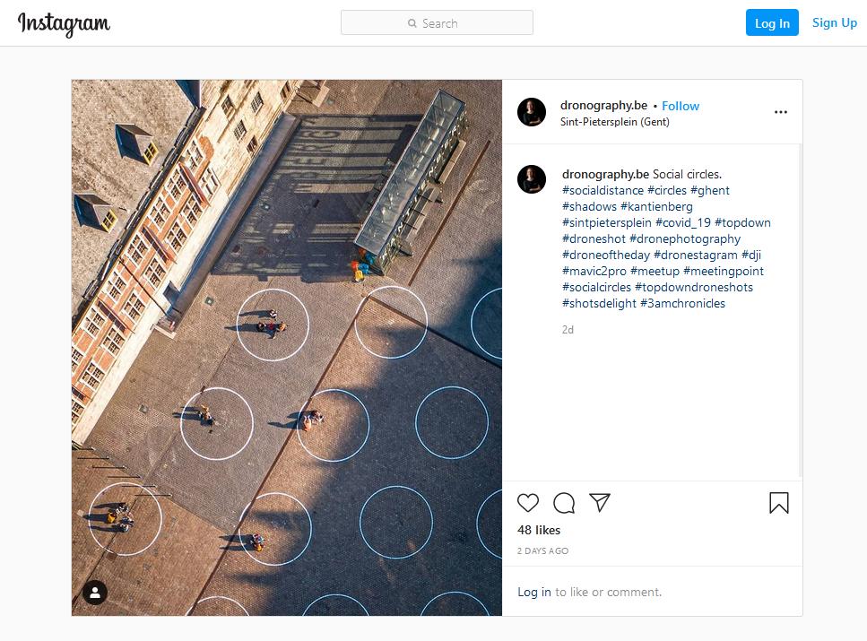 Psychologie in tijden van pandemie_instagram_dronography_Gentse cirkels